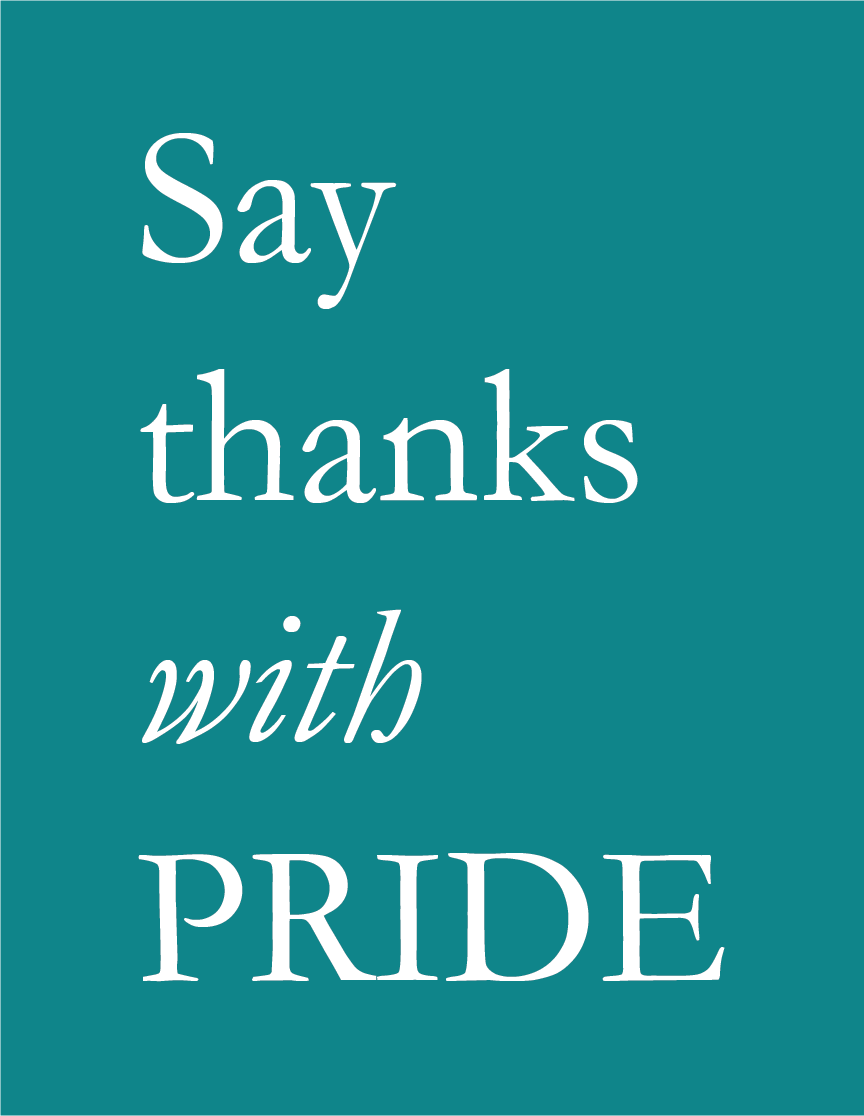 Say thanks with PRIDE